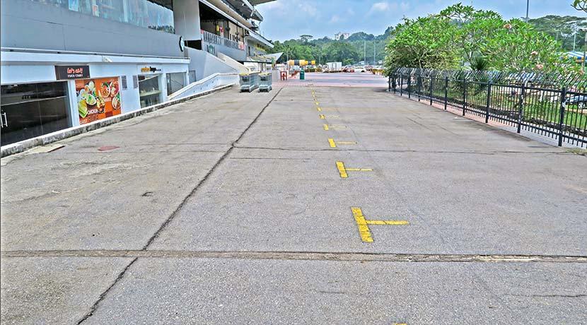 The Grandstand South Grandstand external walkway