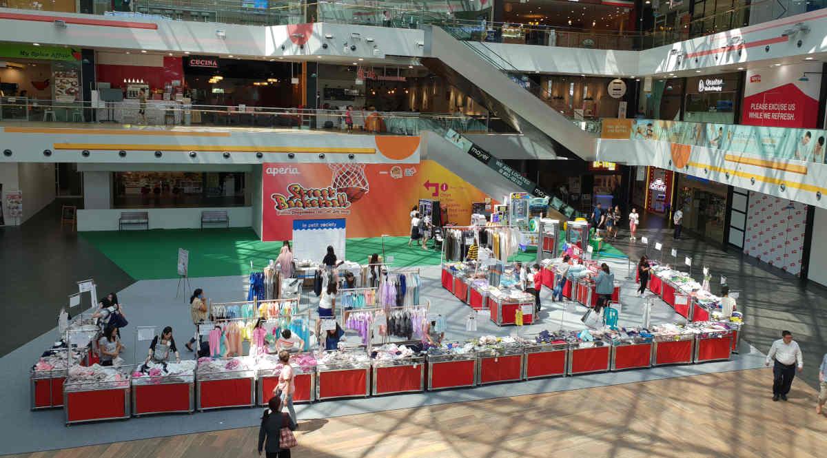 Event space at atrium of Aperia Mall – Kallang