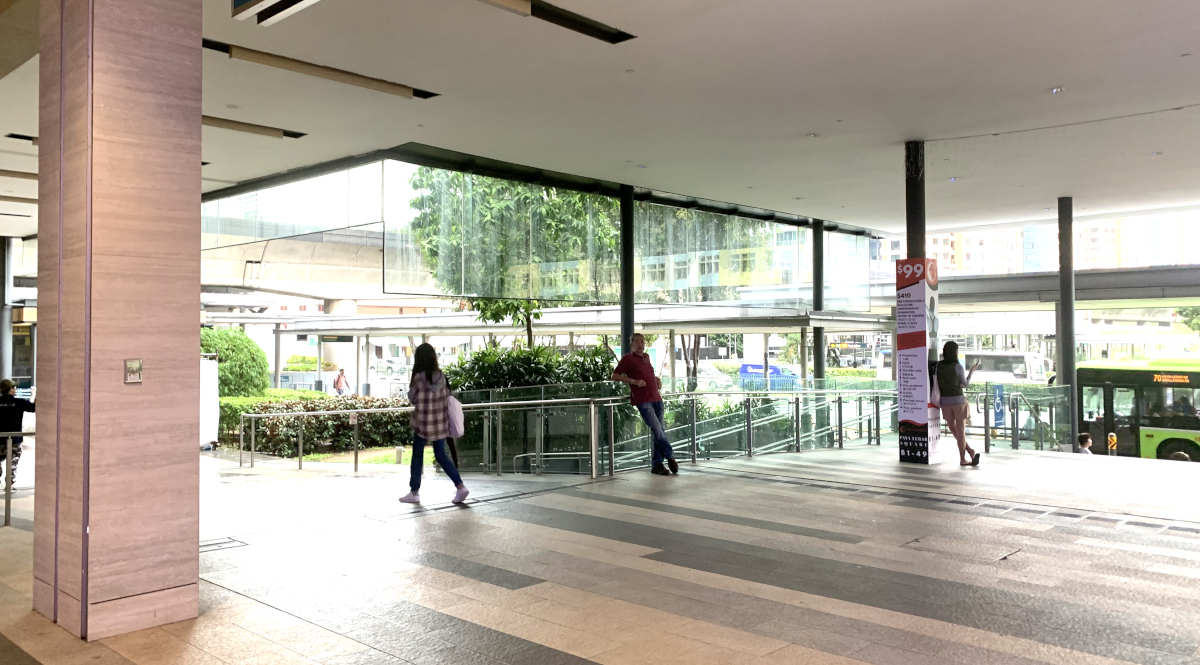 Paya Lebar Square L1 outdoor event space near bus stop