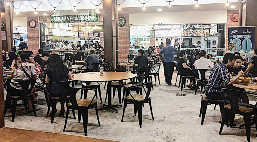 Roadshow space in Tampines food court bistro