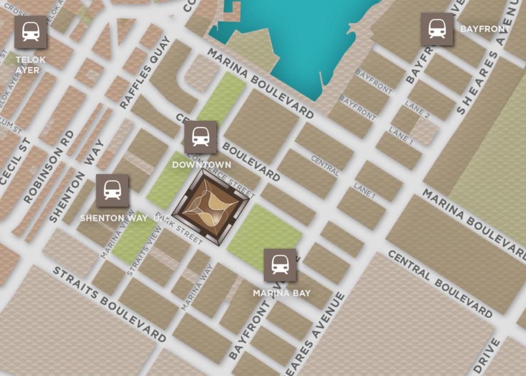 Marina One location map